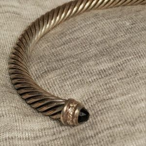 David Yurman Black Onyx Pave Diamond Bracelet